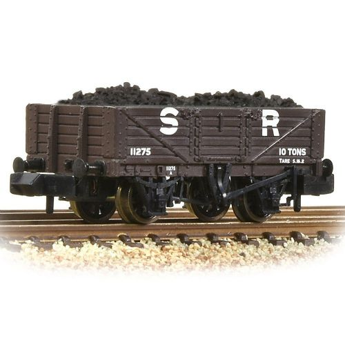 377-063 Farish 5 Plank Wagon Wooden Floor SR with Load